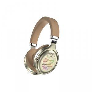 XO słuchawki Bluetooth BE18 złote nauszne