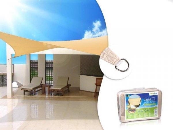 Żagiel ogrodowy GreenBlue GB504 zacieniacz UV poliester 4m kwadratowy kremowy hydrofobowa powierzchnia
