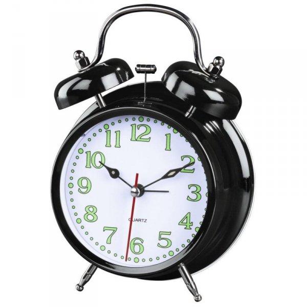 Zegar budzik Hama Nostalgia, czarny