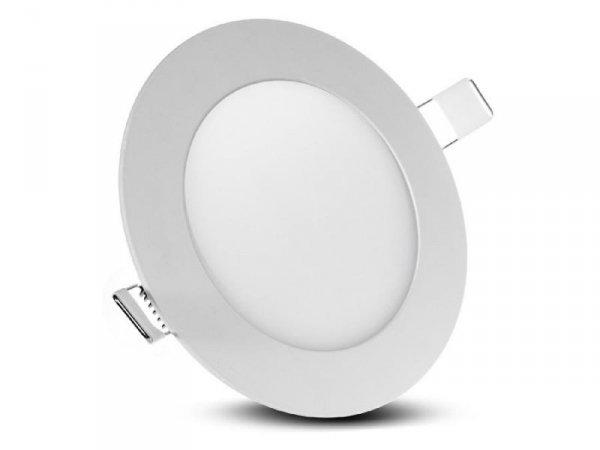 Panel LED sufitowy Led4U LD151W podtynkowy slim 6W Warm white 2800-3200K Fi120*H20mm