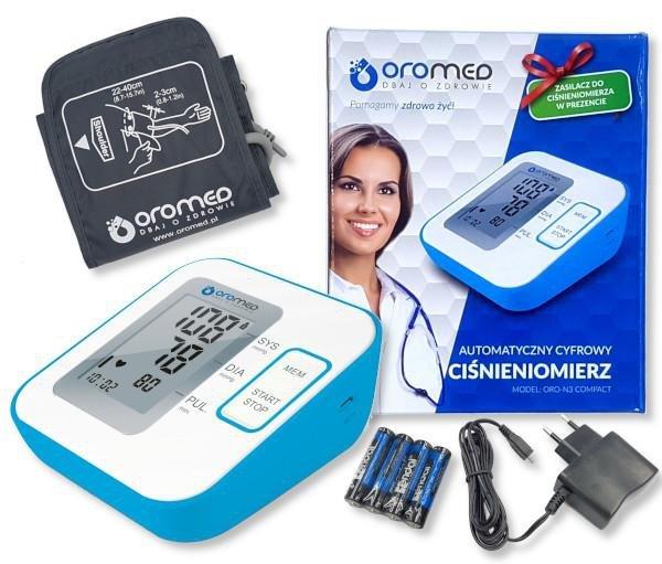 Ciśnieniomierz OROMED ORO-N3 COMPACT + ZASILACZ USB