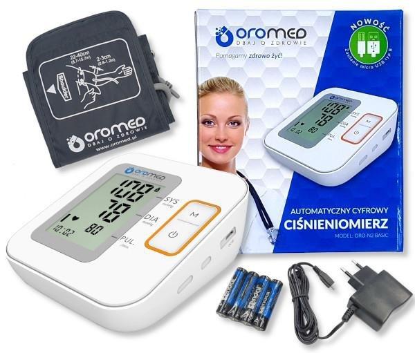 Ciśnieniomierz OROMED ORO-N2 BASIC + ZASILACZ USB