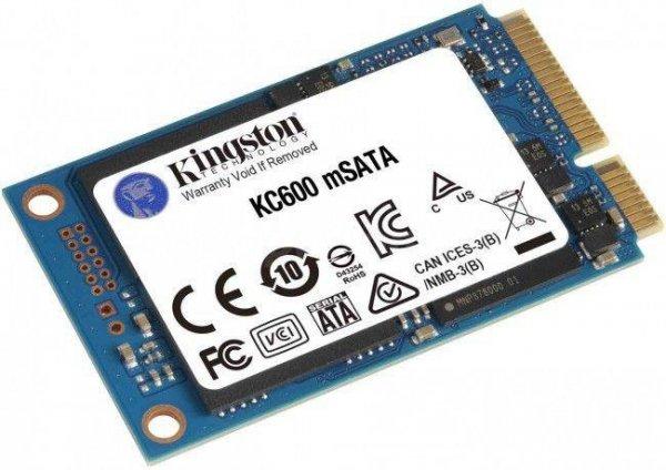 "Dysk SSD Kingston KC600 256GB mSATA 1,8"" (550/500 MB/s) NAND 3D TLC"