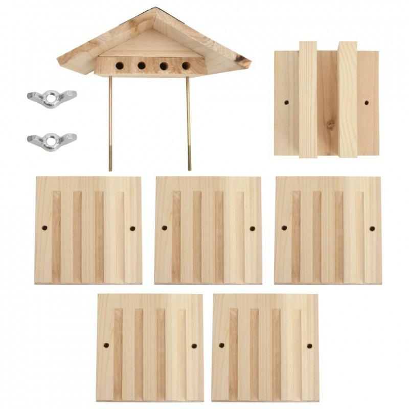 Hotel dla pszczół, lite drewno jodłowe