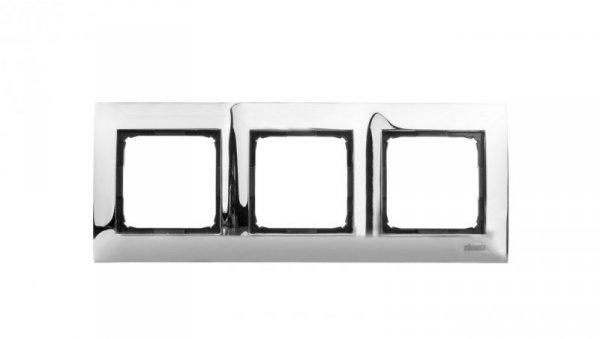 Simon 54 Premium Ramka potrójna metalowa chrom DR3/63