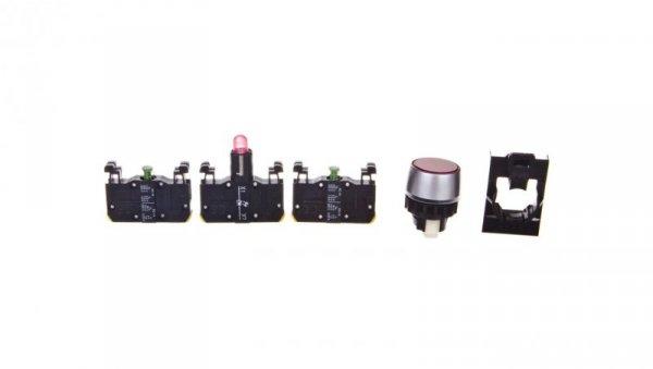 Przycisk sterowniczy 22mm czerwony 2Z z samopowrotem z podświetleniem ST22-KLC-20-230-LEDAC