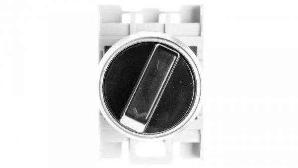 Łącznik pokr. 2-poł. czarny 1Z 1R pierścień niklowany SP22-P.CZ-11.