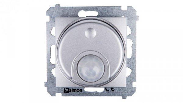 Simon 54 Czujnik ruchu z przekaźnikiem i zabezpieczeniem srebrny mat DCR11P.01/43