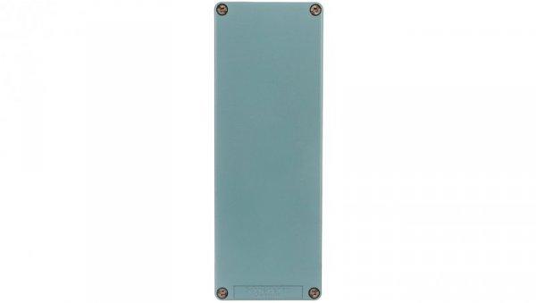 Kaseta sterownicza pusta 80x220mm niebieska stop miedzi XAPM44