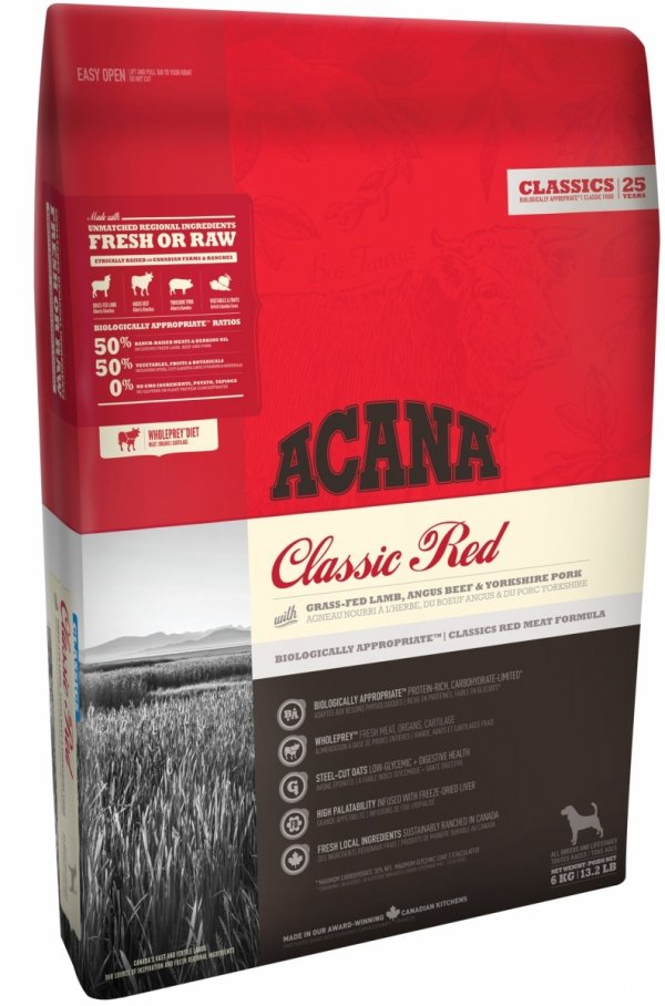 ACANA PIES 17kg CLASSIC RED