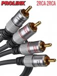 Kabel RCA PROLINK EXCLUSIVE 1,8m 2RCA pozłacane