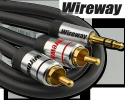 Kabel Jack-2RCA Wireway 2m Audio