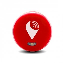 TrackR pixel - lokalizator Bluetooth z funkcją Crowd Locate iOS Android (czerwony)
