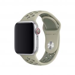 Apple pasek sportowy Nike w kolorze świerkowej kory / szarej szadzi do Apple Watch 38/40 mm - Rozmiar S/M i M/L