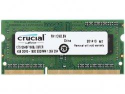Crucial Pamięć RAM 4GB DDR3 SODIMM 1600MHz CL11 1,35V