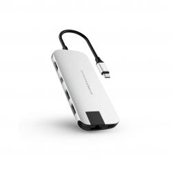 HyperDrive Slim 8-in-1 USB-C HUB Silver (srebrny)