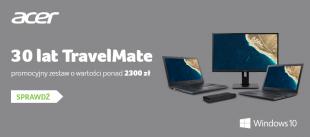 Zgarnij monitor i stację dokującą w promocji z okazji 30-lecia TravelMate!