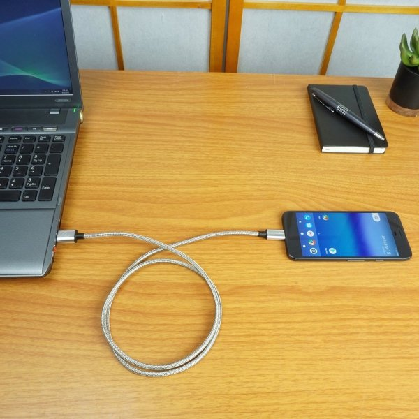 Fuse Chicken Armour Charge - stalowy kabel USB-C USB-A 3.0 (200cm)