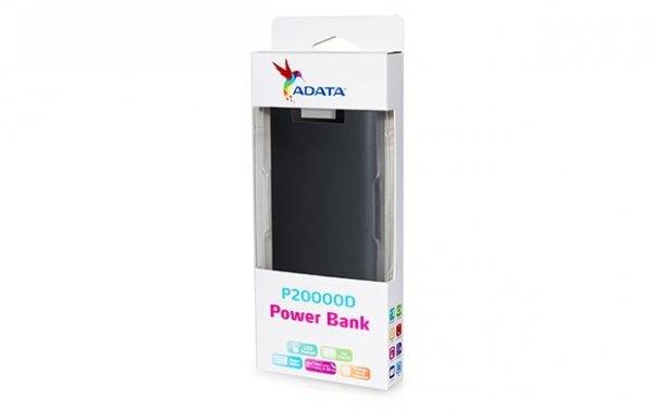 Adata PowerBank P20000D 20000mAh 3.1A Czarny