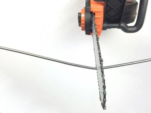 Fuse Chicken Titan BLACK- stalowy, dwuwarstwowy kabel Lightning (150cm)