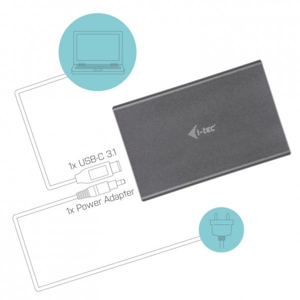 "i-tec MySafe USB-C 3.1 Gen. 2 Obudowa na dysk HDD/SSD 2,5"""