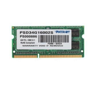 Pamięć RAM 4GB Patriot SO-DIMM DDR3 1600MHz CL11