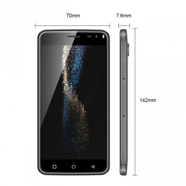 "Smartfon BluBoo Xfire2 8GB 5"" (czarny) POLSKA DYSTRYBUCJA"