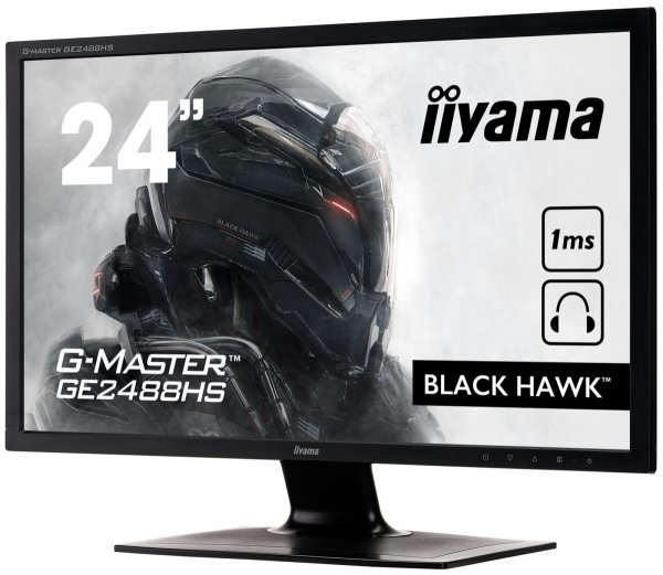"IIYAMA G-MASTER BLACK HAWK GE2488HS-B2 24"" 1ms FreeSync + Słuchawki"