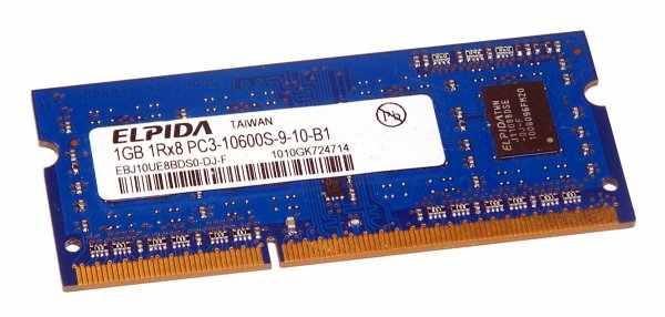 Pamięć RAM 1GB Elpida SO-DIMM DDR3 1333MHz CL9
