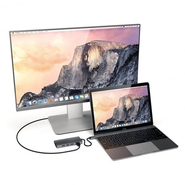 Satechi USB-C Multiport Ethernet V2 HUB - 3xUSB 3.0 / Ethernet / HDMI / USB-C (PD) / SD / microSD / Space Gray (gwiezdna szarość)