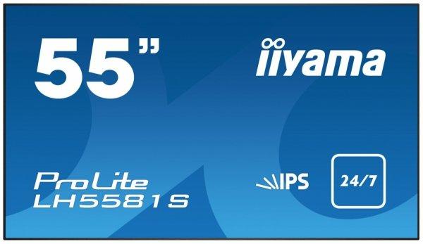 Monitor IIYAMA 55 LH5581S-B1 IPS FullHD DAISY CHAIN Support, USB Media Player, OPS, 24/7