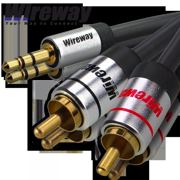 Kabel Jack-2RCA Wireway 3m Audio