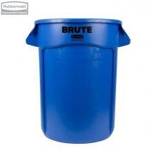 Kontener okrągły z kanałami BRUTE® 121,1L Blue