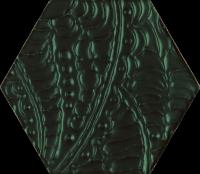 Urban Colours Green Inserto Szklane Heksagon 17,1x19,8