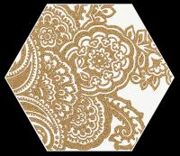 Paradyż Shiny Lines Gold Heksagon Inserto B 19,8x17,1