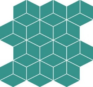 Cersanit Colour Blink Mosaic Diamond Turquoise 28x29,7