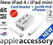 iPad 4 mini Card Reader +3 USB HUB +zasilanie
