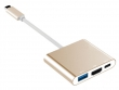 Przejściówka USB-C do HDMI + USB 3.0 HUB + USB-C Power do APPLE MacBook 12