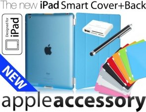 5w1 Smart Cover+Back + Folia +Pen Camera Kit iPad 3 / 2