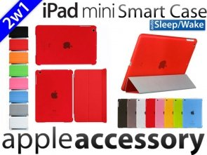 2w1 Smart Cover+Back Cover iPad mini 1/ 2/ 3 Case Etui
