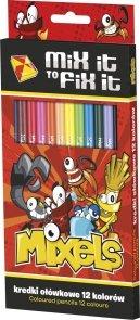 Kredki ołówkowe Mixels 12 kolorów