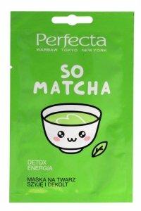Perfecta So Matcha Maska na twarz,szyję i dekolt Detox-Energia  10ml