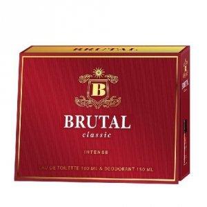 Brutal Classic Intense Zestaw prezentowy (Woda toaletowa 100ml + Dezodorant spray 150ml)