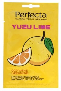Perfecta Hydrożelowa Maska na twarz,szyję i dekolt Yuzu Lime  10ml