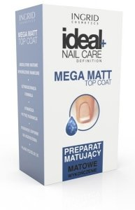 Ingrid Ideal Nail Care Preparat matujący do paznokci  Mega Matt  7ml