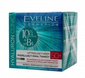 Eveline Hyaluron Clinic 50+ Liftingujący Krem modelujący owal twarzy na dzień i noc  50ml