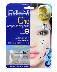 Eveline Q10 Maska na tkaninie Anti-Wrinkle 8w1  1szt