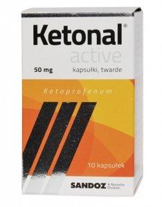 KETONAL ACTIVE, 50 mg, kapsułki twarde, 10 SZT.
