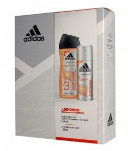 Adidas Adipower Men zestaw prezentowy (deo spray 150ml+żel pod prysznic 3w1 250ml)