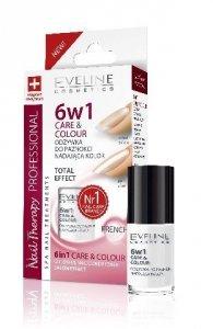 Eveline Nail Therapy Lakier odżywka 6w1 Care & Colour French  5ml